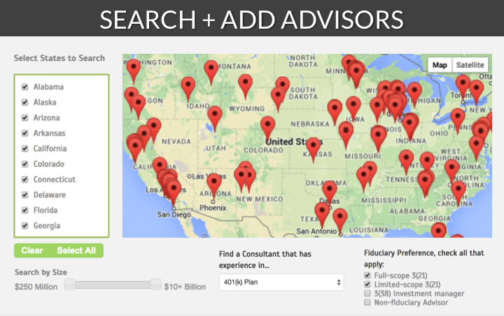 Advisor Search Map